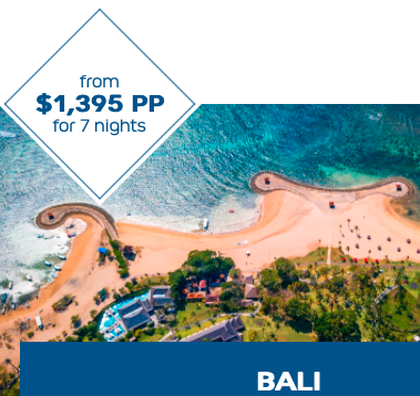 Book with Go West Travel for $100 pp towards your flights