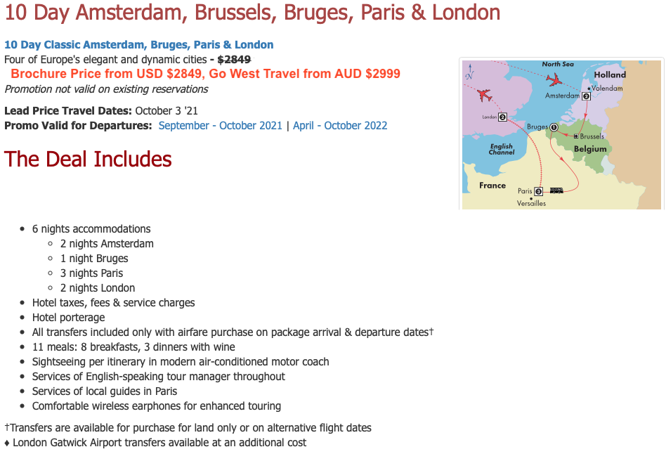 Everybody loves a great deal, and Ed @ Go West Travel really knows how to snap up a great bargain, with more included for a great price.  Look at these deals with one of my favourite group touring operators.